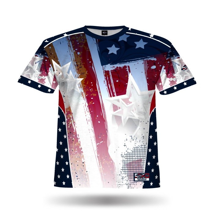 Patriotic Eagle Navy & Red Full Dye Jersey Blank Front