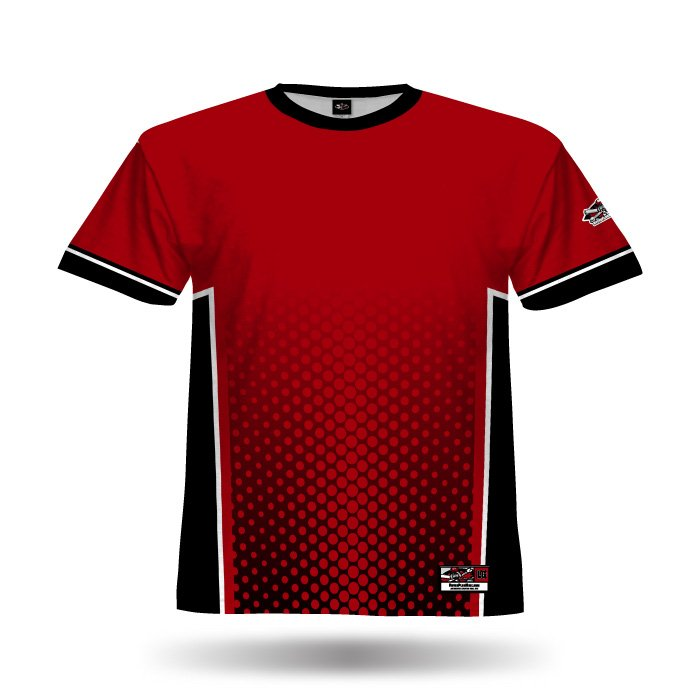 Phenom Red & Black Full Dye Jersey Blank Front