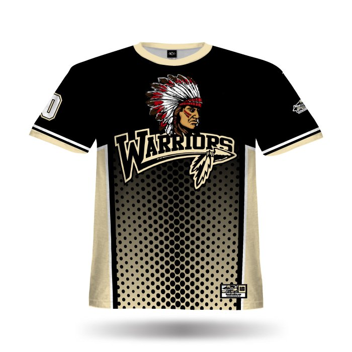 Phenom Black & Vegas Gold Full Dye Jersey