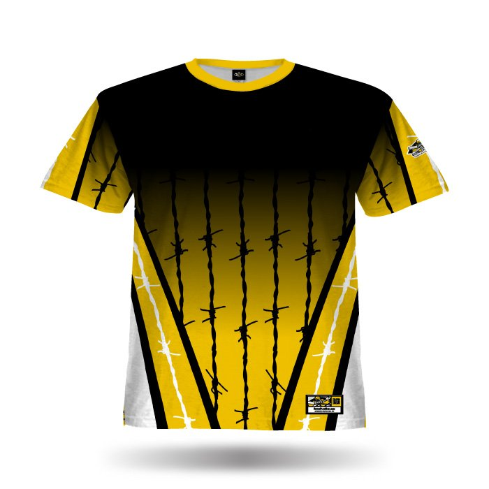 Pinwire Ath Gold & Black Full Dye Jersey Blank Front