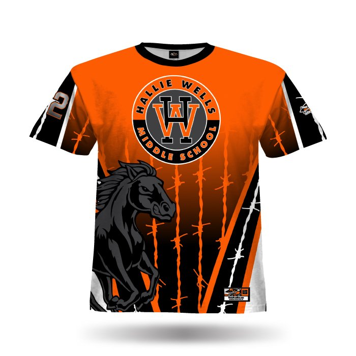 Pinwire Orange & Black Full Dye Jersey