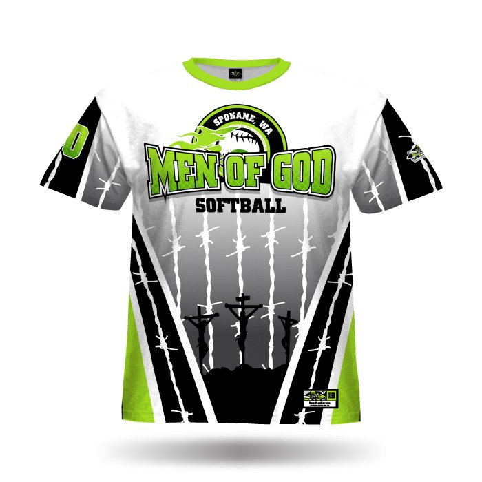 Pinwire White & Lime Full Dye Jersey Front