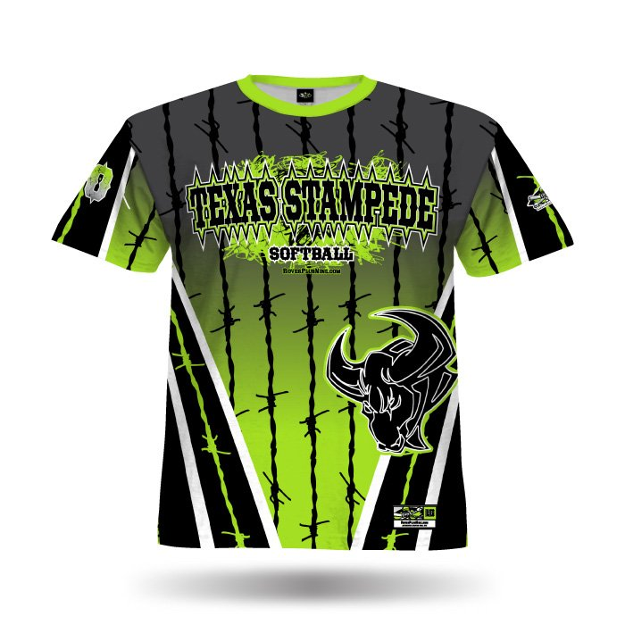 Pinwire Black & Lime Full Dye Jersey Front