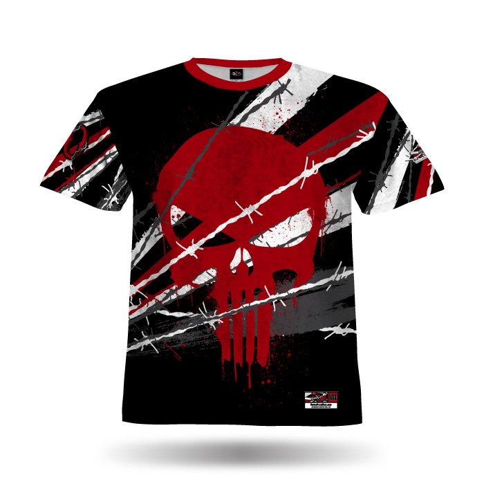 Pinwire II Black & Red Full Dye Jersey Front