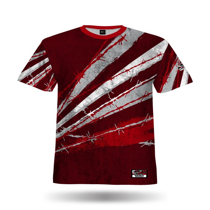 Pinwire II Red & Brick Red Full Dye Jersey Front