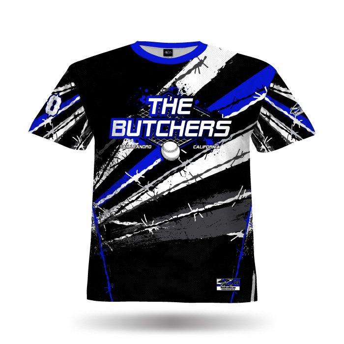 Pinwire II Royal & Black Full Dye Jersey