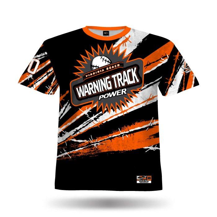Pinwire II Black & Orange Full Dye Jersey Front