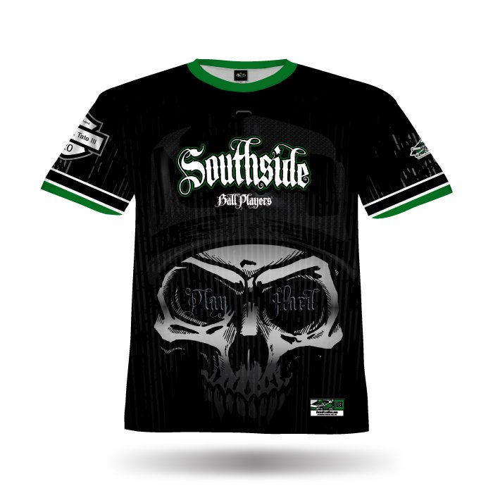 Reaper Black & Dark Green Full Dye Jersey