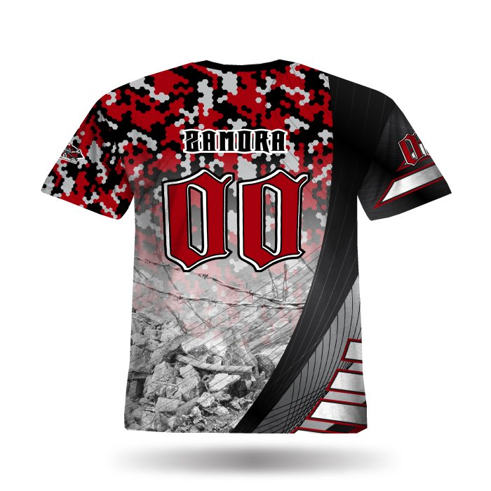 Reaper II Black & Red Full Dye Jersey