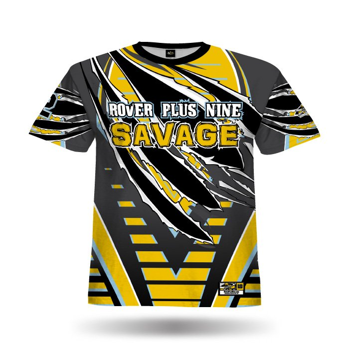 Relentless Athletic Gold & Steel Grey Full Dye Jersey Front