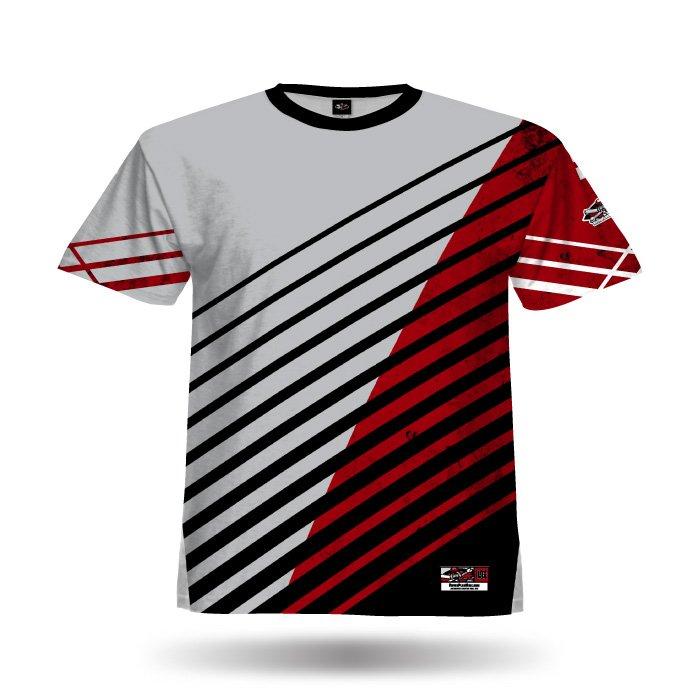 Relentless 2 Grey & Red Full Dye Jersey Blank Front