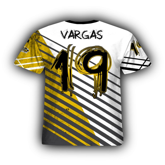 Relentless II Athletic Gold & Black Full Dye Jersey