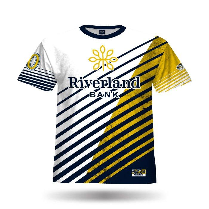 Relentless II White & Athletic Gold Full Dye Jersey Front