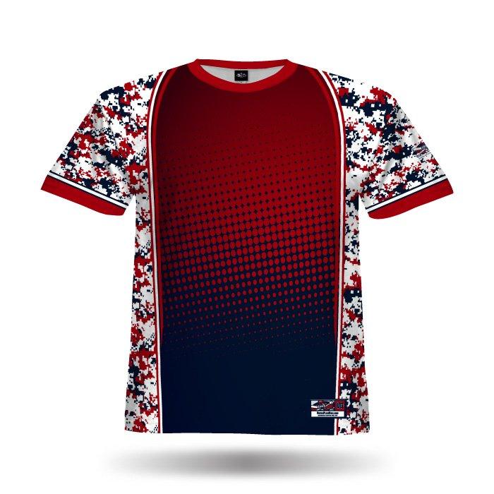 Reloaded Red & Navy Full Dye Jersey Blank Front