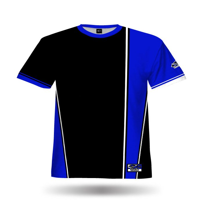 Retro Black & Royal Blank Full Dye Jersey Front