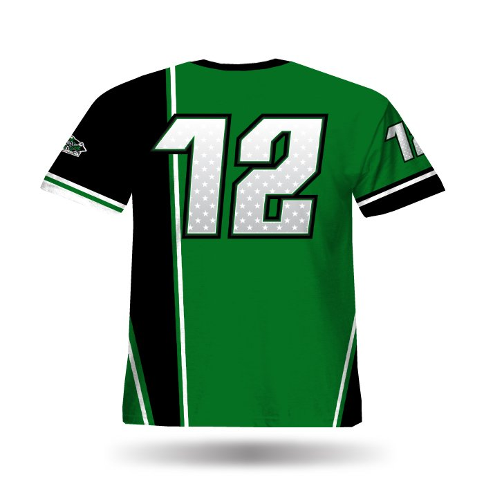 Retro Dark Green & Black Full Dye Jersey
