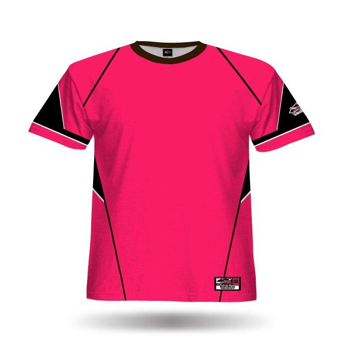 Slasher Dark Pink & Black Blank Full Dye Jersey Front