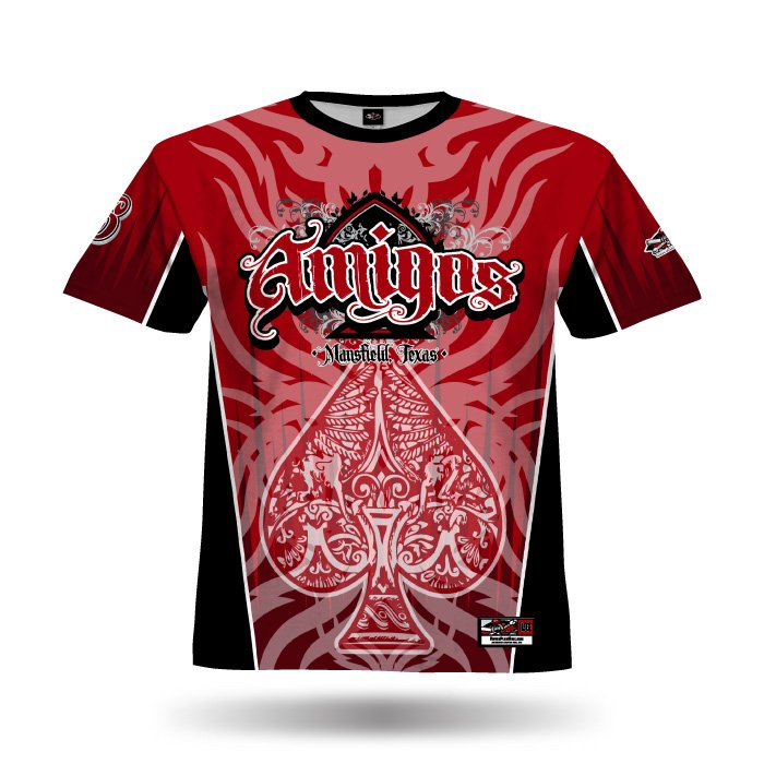 Spade Red & Black Full Dye Jersey Front
