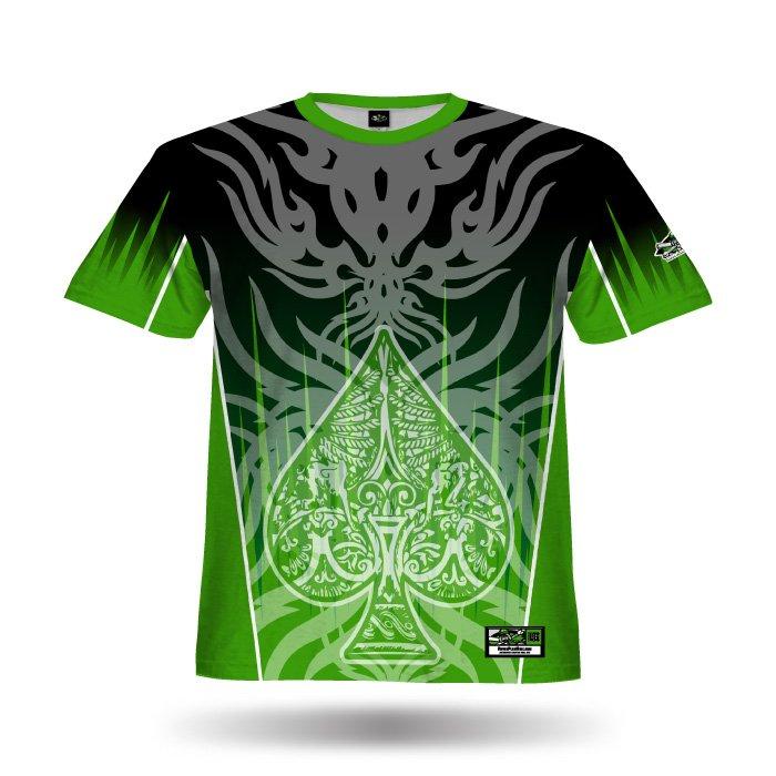 Spade Black & Kelly Green Full Dye Jersey Front