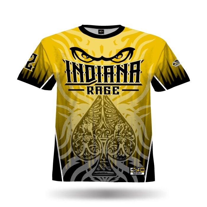 Spade I Athletic Gold & Black Full Dye Jersey