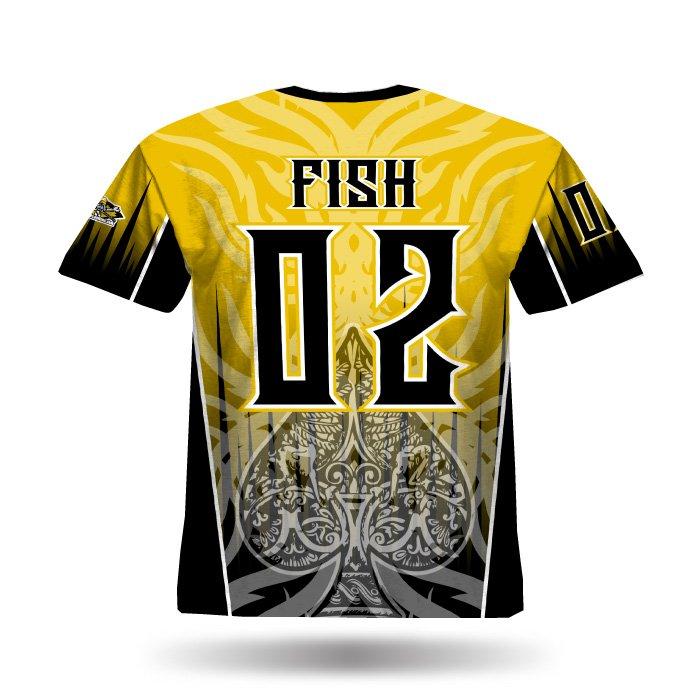 Spade Athletic Gold & Black Full jersey Back