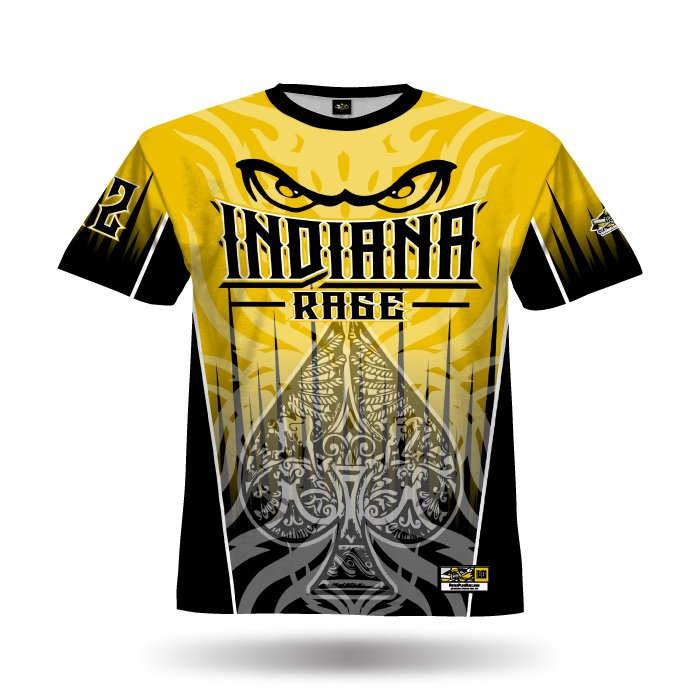Spade Athletic Gold & Black Full Dye Jersey Front