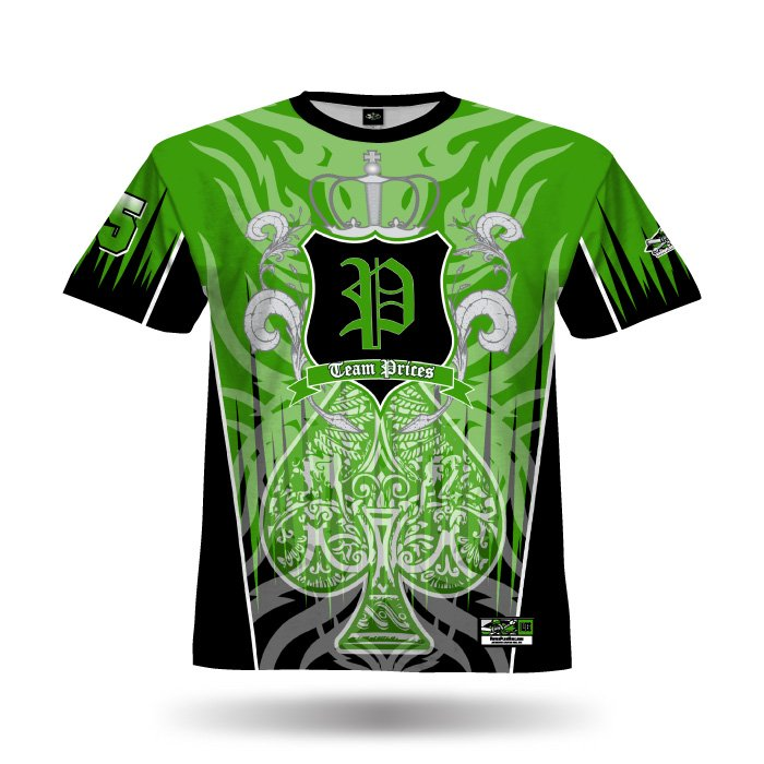 Spade Kelly Green & Black Full Dye Jersey Front