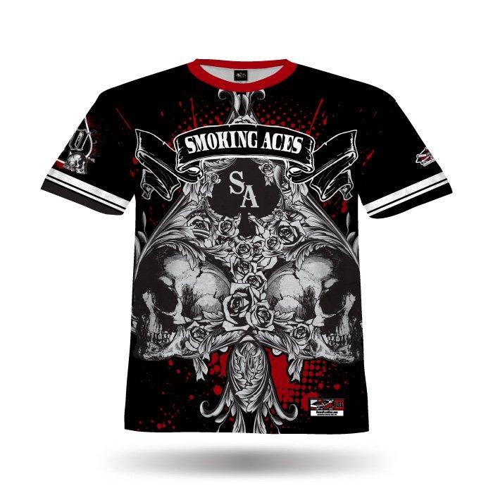 Spade 3 Black & Red Full Dye Jersey Front