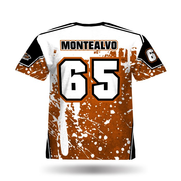 Splatter TX Orange & Black Full Dye Jersey