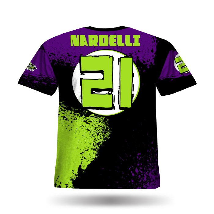 Splatter II Purple & Lime Full Dye Jersey