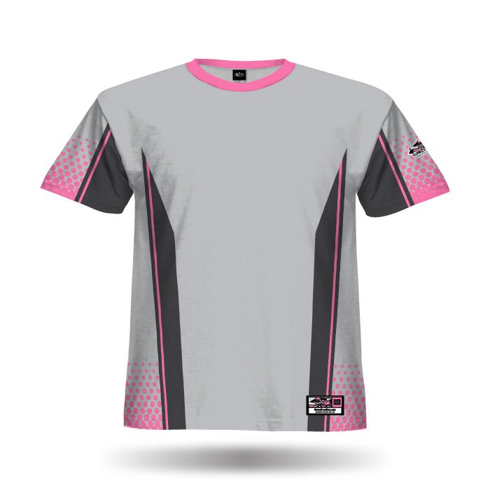 Split Grey & Light Pink Full Dye Jersey Blank Front