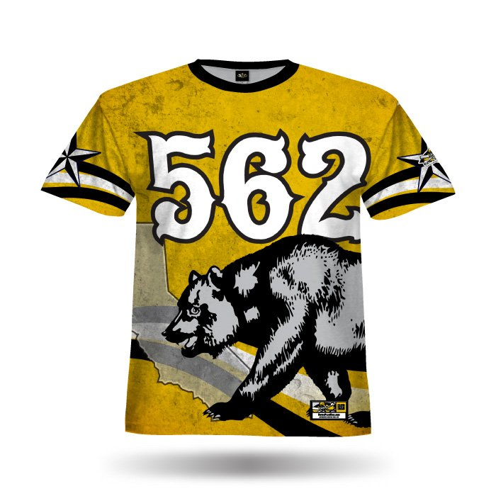State Pride Ath Gold & Black Full Dye Jersey Front