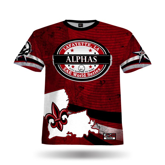 State Pride Red & Black Full Dye Jersey Front