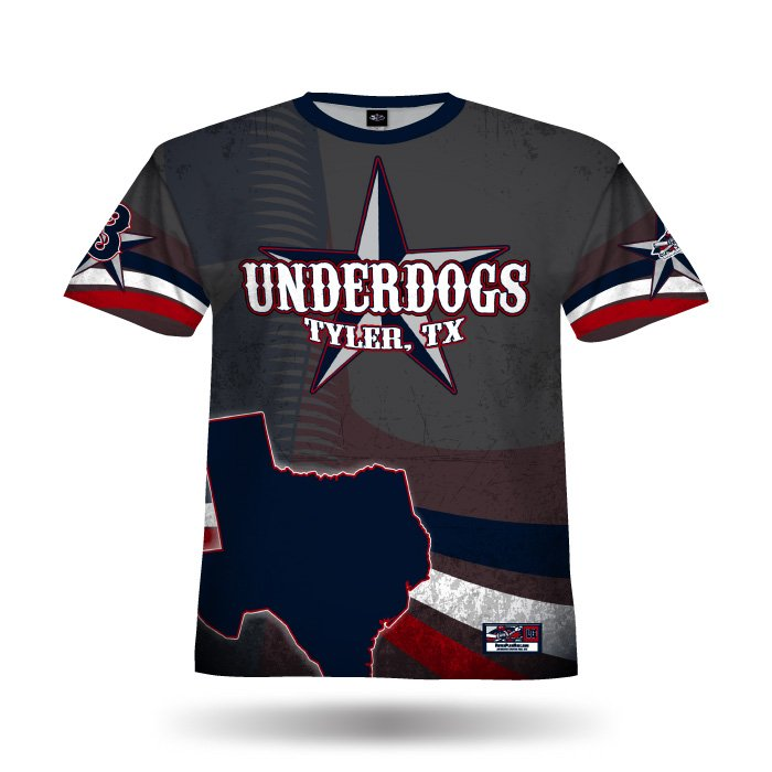 Texas Pride Navy & Red Full Dye Jersey Front