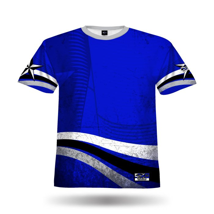 Texas Pride Royal Full Dye Jersey Front