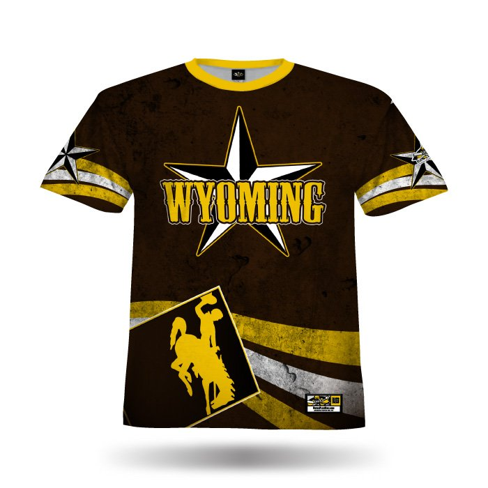 State Pride Brown & Ath Gold Full Dye Jersey Front