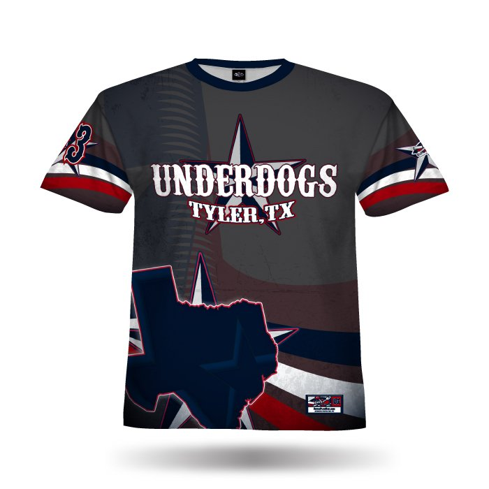 Texas Pride Navy & Red Full Dye Jersey