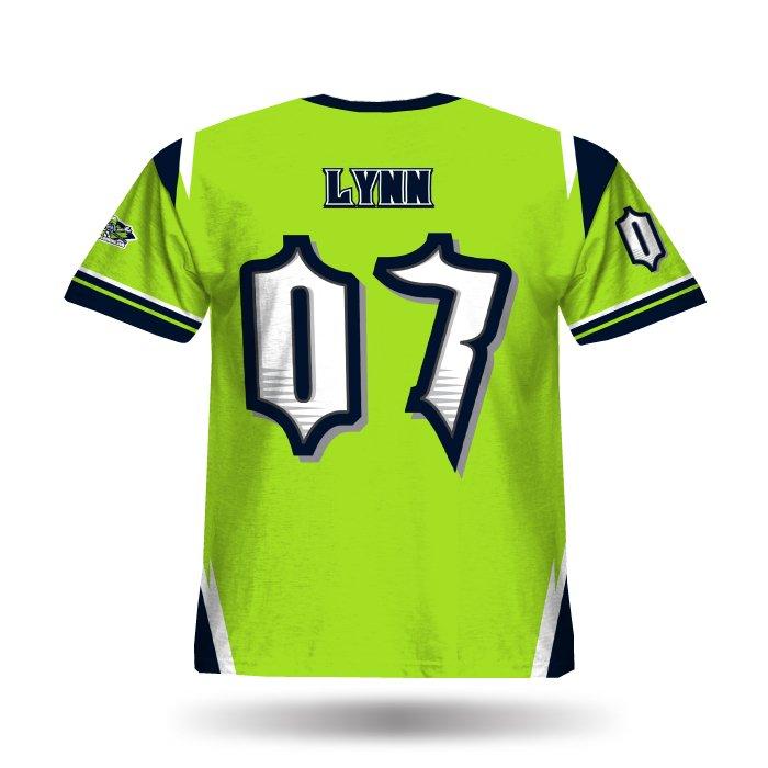 Striker Lime & Navy Full Dye Hoodie