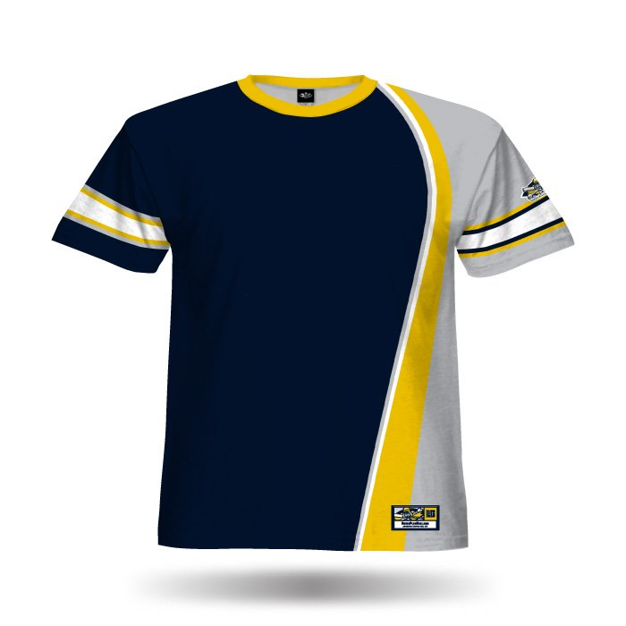 Swaggah Navy & Ath Gold Full Dye Jersey Blank Front