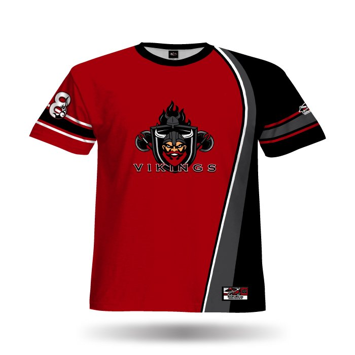 Swaggah Red & Black Full Dye Jersey