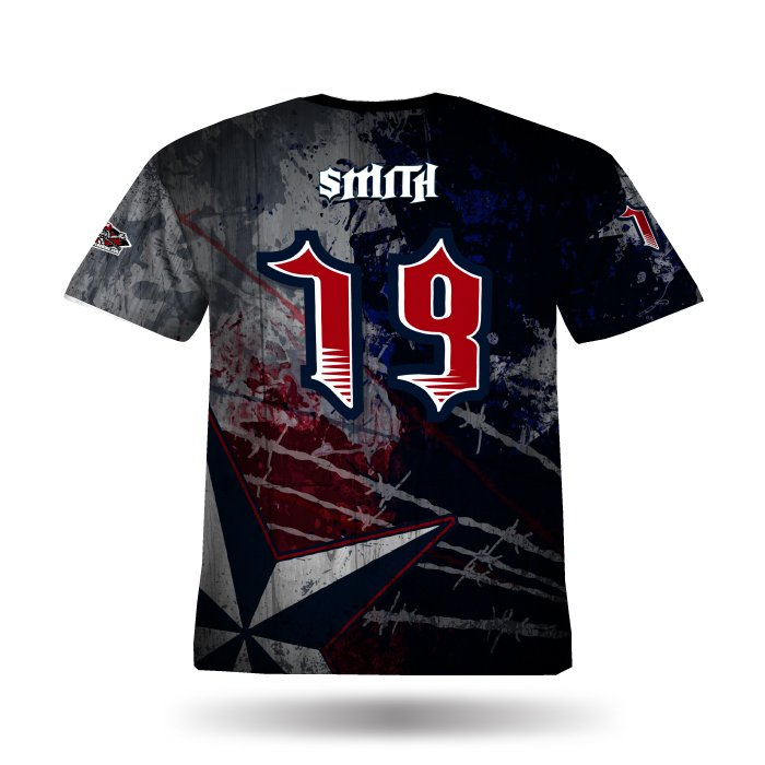 Texas Stampede Navy & Red Full Dye Jersey