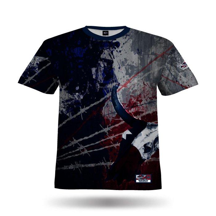 Texas Stampede Navy & Red Full Dye Jersey