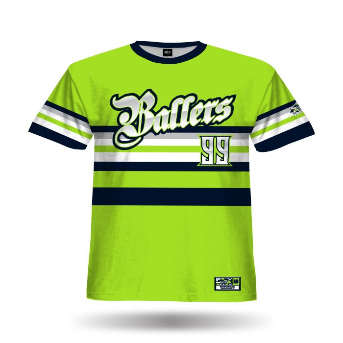 Throwback Lime Full Dye Jersey Front