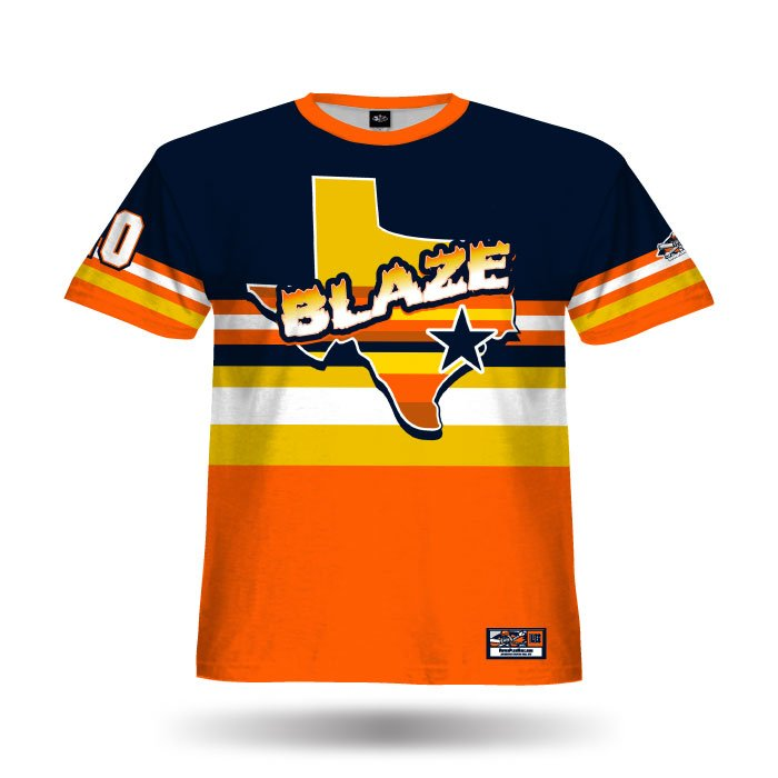 Throwback Navy & Orange Full Dye Jersey Front