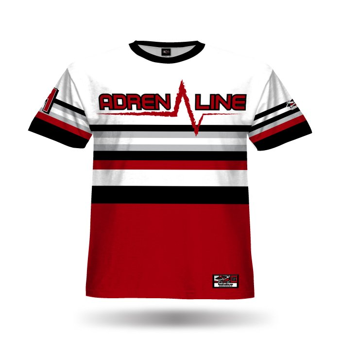 Throwback Red & Black Full Dye Jersey