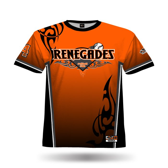 Tribal Orange & Black Full Dye Jersey