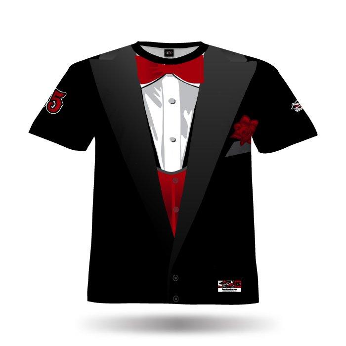 Tuxedo Black & Red Full Dye Jersey