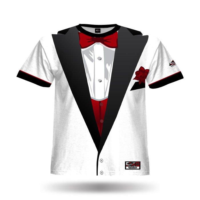 Tuxedo White Full Dye Jersey Front