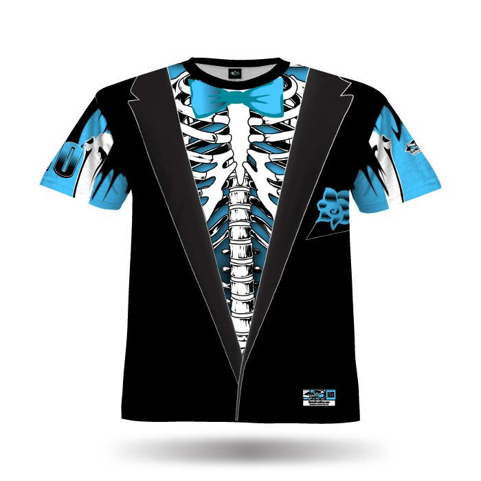 Tuxedo Bones Black & Columbia Full Dye Jersey