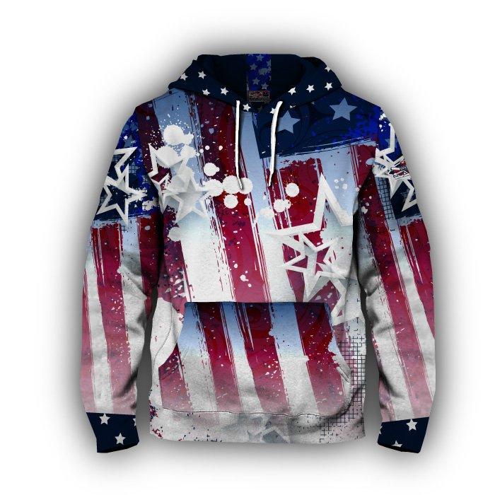 Uncle Sam Blank Full Dye Hoodie Front